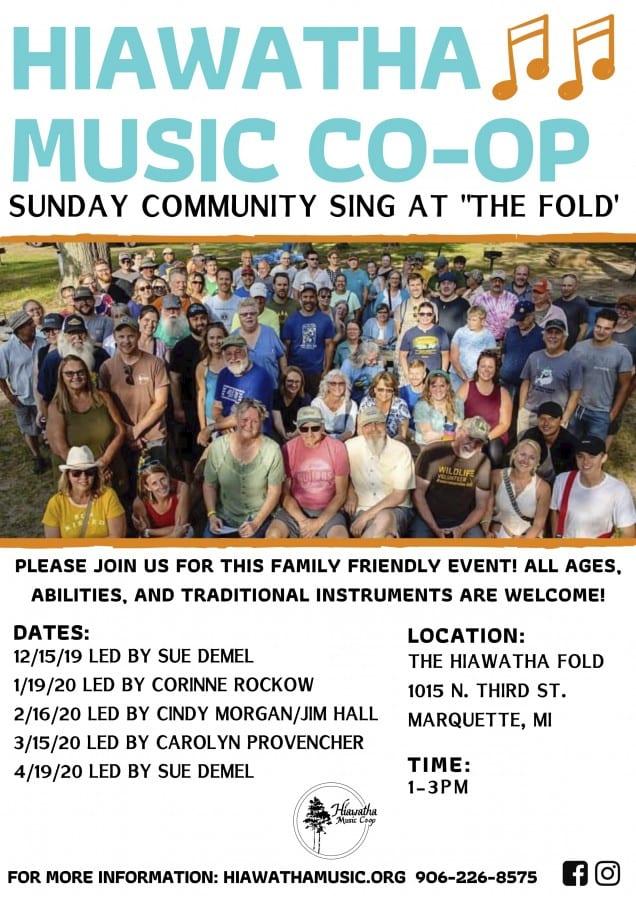 NEW! Community Sing at The Hiawatha Fold - Hiawatha Music Co-op